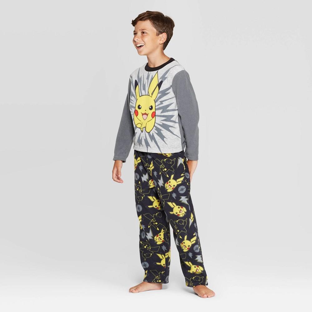 Image of Boys' Pokemon 2pc Pajama Set - Gray 10, Boy's