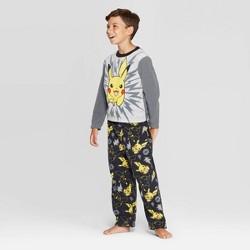 Boys' Pokemon 2pc Pajama Set - Gray