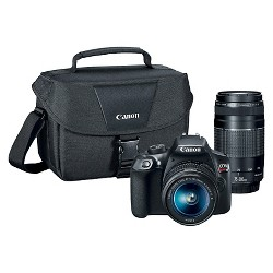 Canon DSLR EOS T6 2Lens Kit Bundle (18-55mm IS Lens, 75-300mm Zoom Lens)