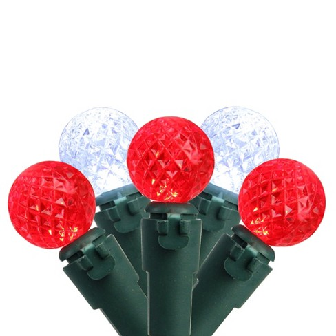 Brite Star 50ct G12 Berry LED String Lights Red/Pure White - 16.6' Green Wire - image 1 of 2