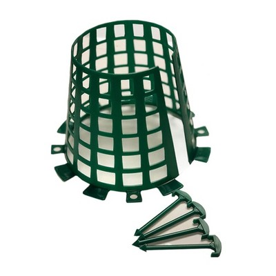 Plant Knight Tree Trunk Guard Protector with 6 Inch Plastic Expandable Wrap Fence Cage Ventilation and Clip for Garden Protection, 6 Pack (Green)