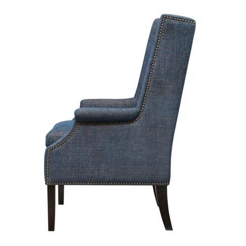 Pleasing Adrian Accent Chair Blue Target Machost Co Dining Chair Design Ideas Machostcouk