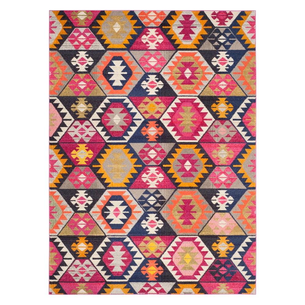 8'X11' Tribal Design Area Rug - Safavieh, Multi-Colored