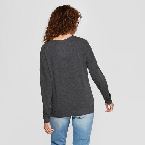 d5c4749cf2 Women's Love And Tacos Graphic Pullover Sweatshirt - Zoe+Liv (Juniors')  Charcoal : Target