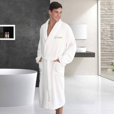 S/M Groom Bathrobe White - Linum Home textiles