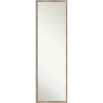 "15"" x 49"" Hardwood Wedge Framed Full Length on the Door Mirror - Amanti Art"