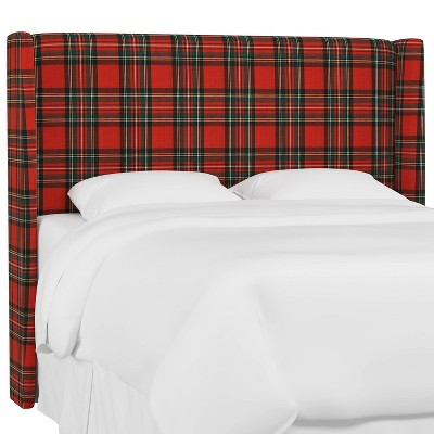 Wingback Headboard Ancient Stewart Red - Skyline Furniture