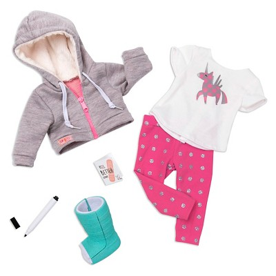 """Our Generation Get Well Soon Outfit & Cast Accessory Set for 18"""" Dolls"""