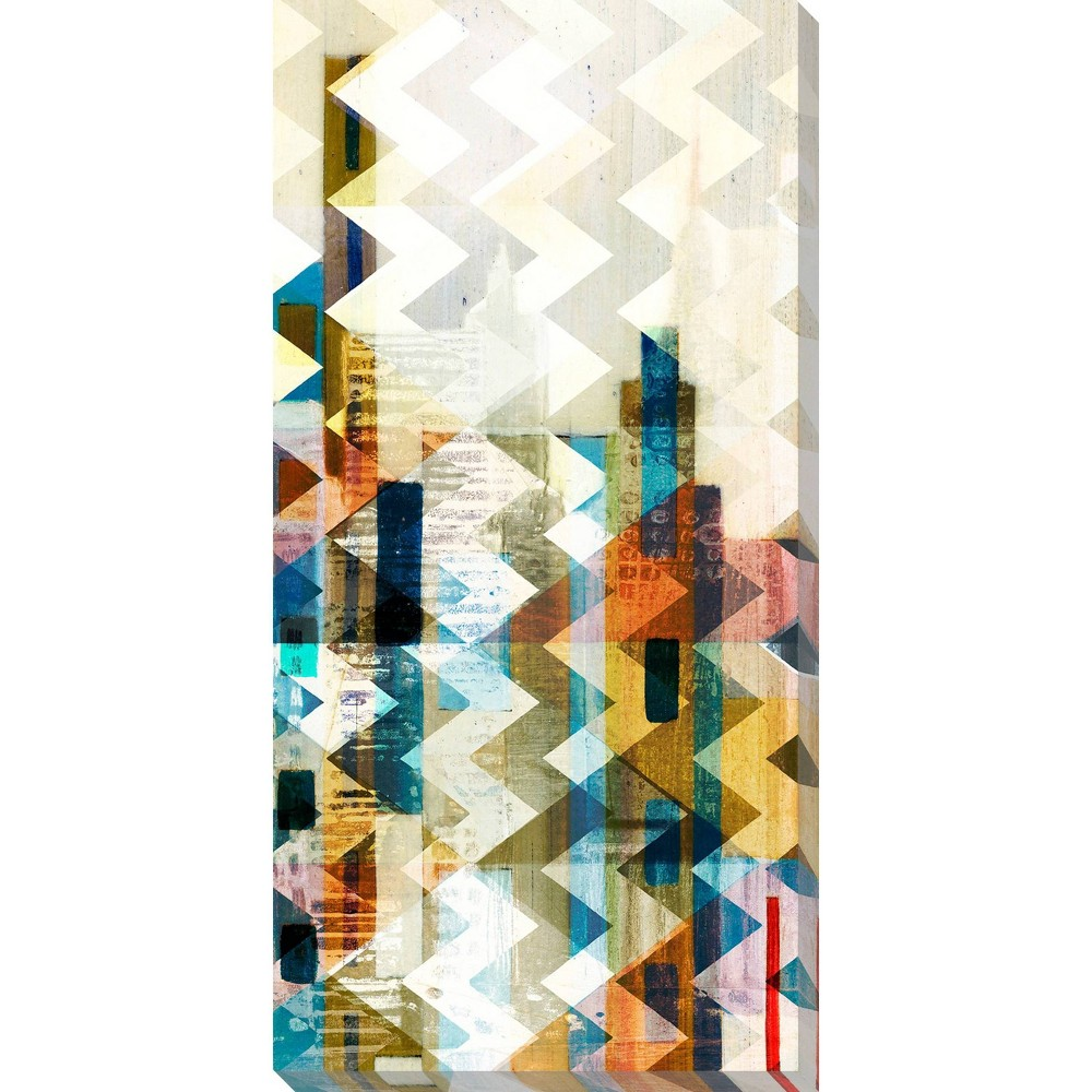Image of Urban Chevron I Unframed Wall Canvas Art - (18X36)