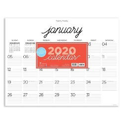 2020 Desktop Calendar Farmhouse Script Calligraphy