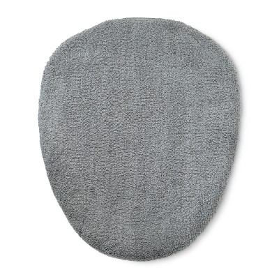 Tufted Spa Toilet Lid Cover Standard Gray - Fieldcrest®