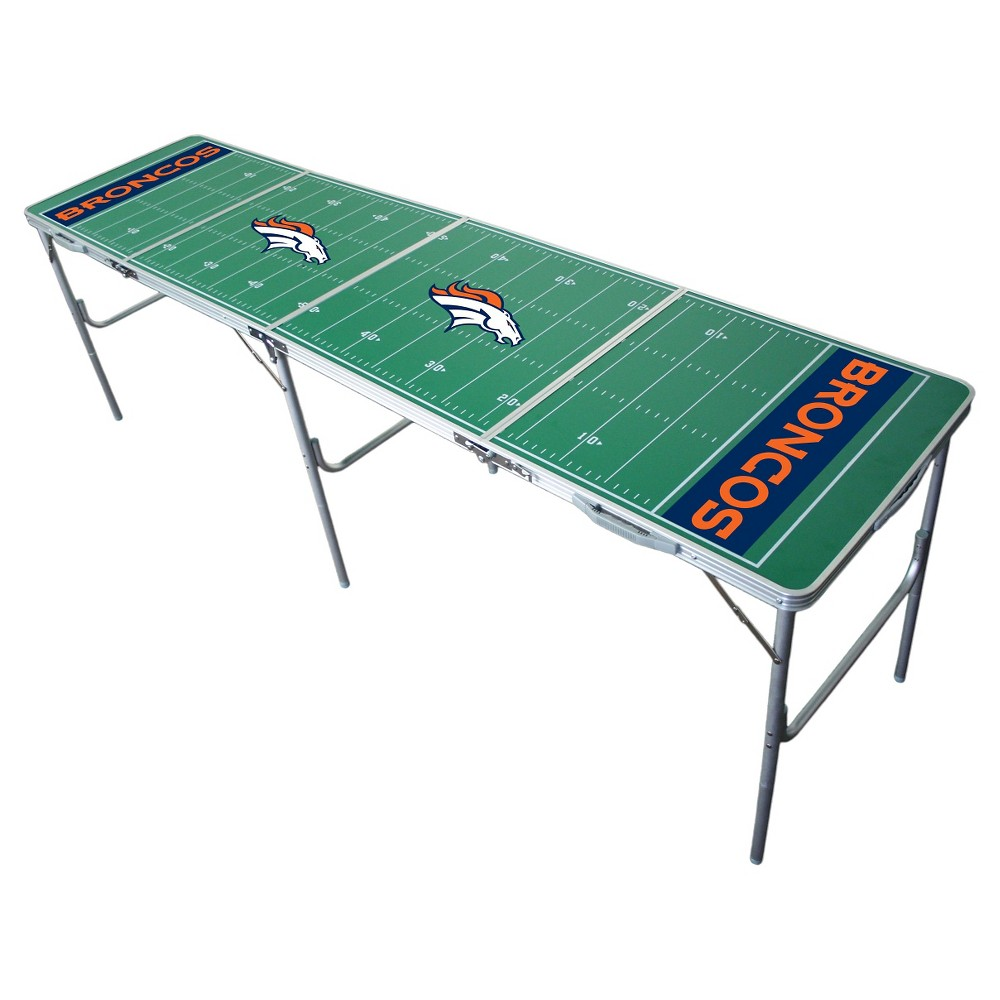 NFL Denver Broncos Tailgate Table - 2'x8', Multi-Colored