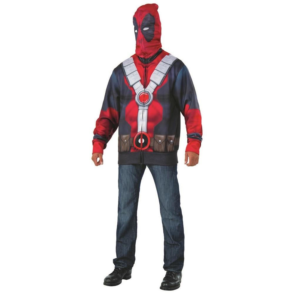Men's Deadpool 2 Hoodie Halloween Costume XL, Multi-Colored