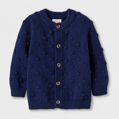 Baby Boys' Button-Up Cardigan Sweater - Cat & Jack™ Blue 6-9M