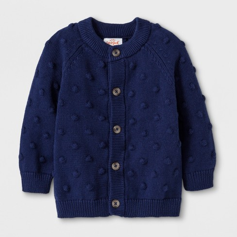 Baby Boys' Button-Up Cardigan Sweater - Cat & Jack™ Blue - image 1 of 1