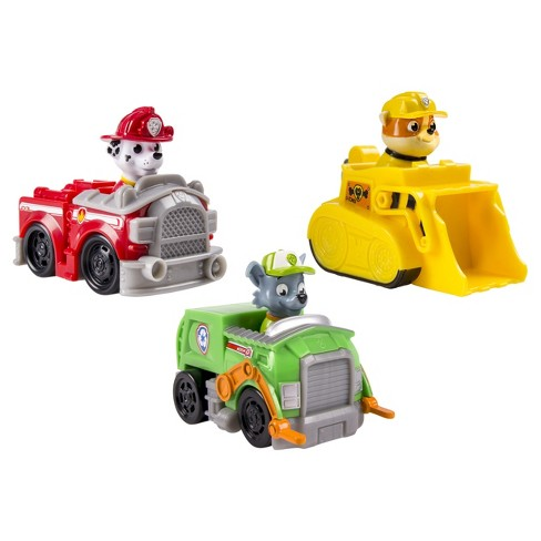 4c7db4f06 Paw Patrol Rescue Racers - Marshall, Rubble, Rocky 3-Pack : Target