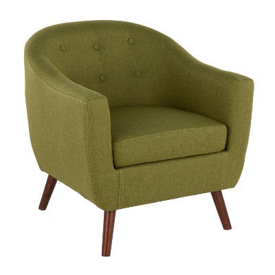 Rockwell Mid-Century Modern Accent Chair Brown/Green - LumiSource
