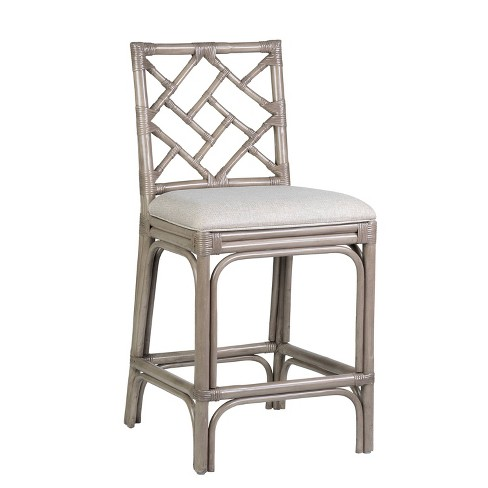 Betsy Rattan Counter Height Barstool Gray - East At Main - image 1 of 4