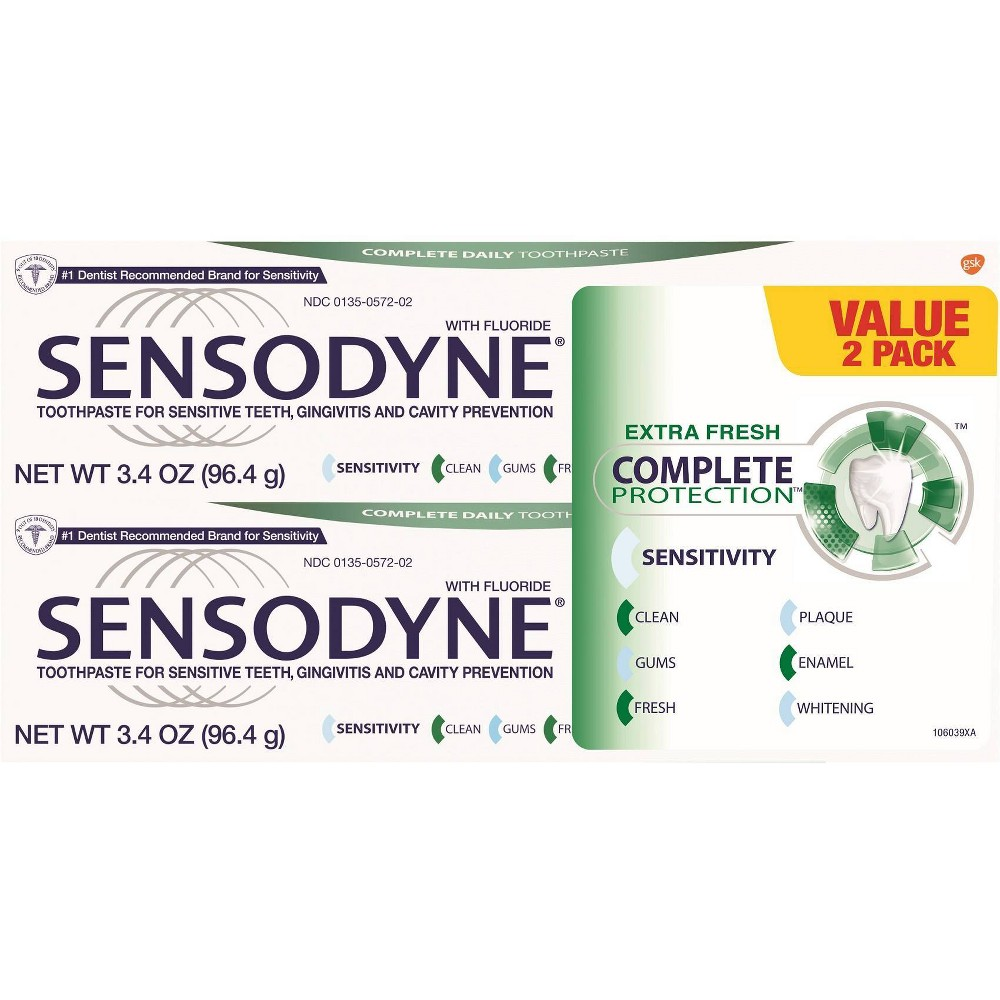 Image of Sensodyne Complete Protection - 2ct/3.4oz, Size: 6.4oz