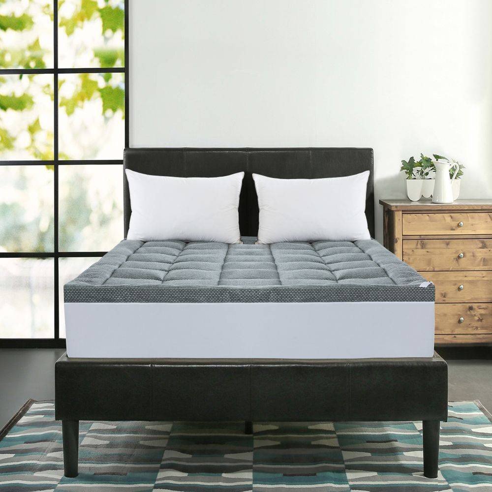 Image of King Charcoal Infused Mattress Topper - St. James Home