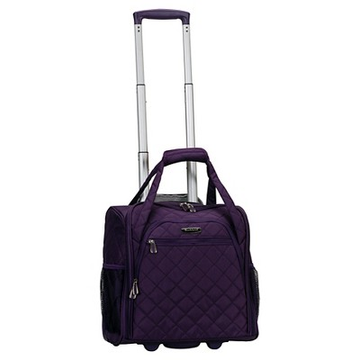 "Rockland 15"" Rolling Underseat Carry On Suitcase"
