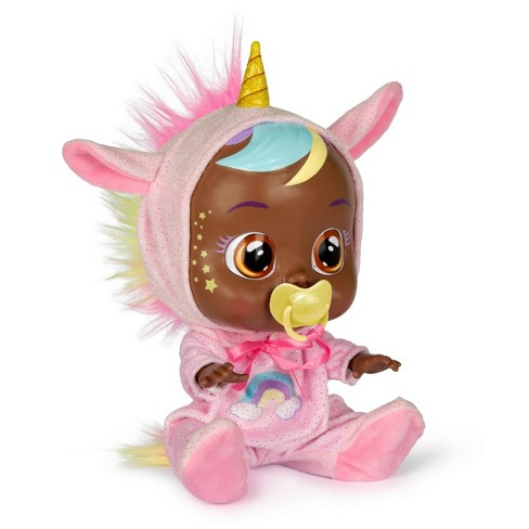 Cry Babies Jassy Fantasy Baby Doll - Pink Unicorn - image 1 of 4
