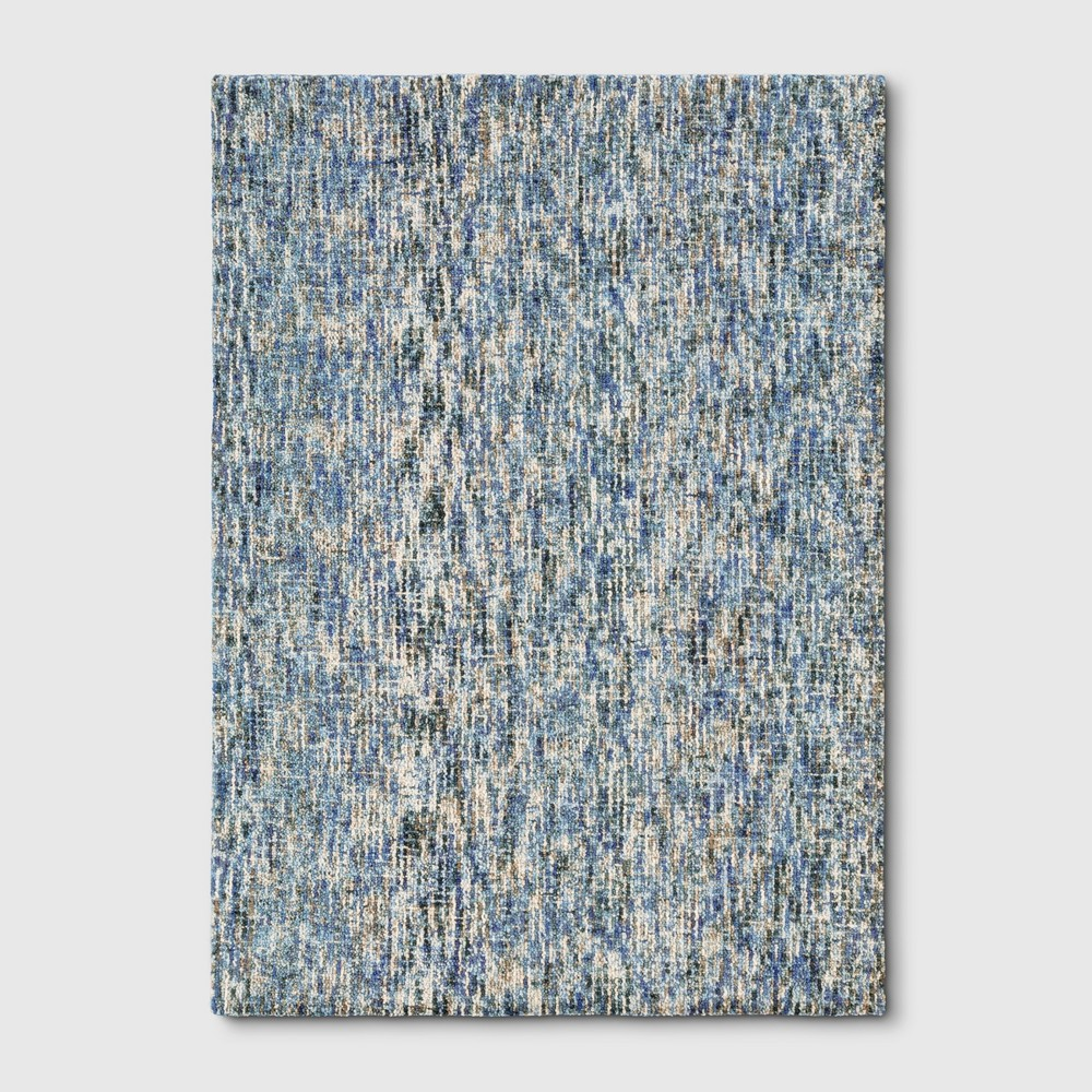 5'X7' Tie Dye Design Tufted Area Rugs Blue - Project 62
