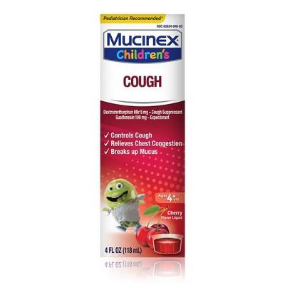 Children's Mucinex Cough Syrup - Dextromethorphan - Cherry - 4 fl oz