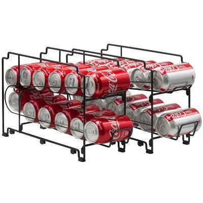 Sorbus 2-Tier Soda Can Rack Beverage Dispenser Stackable Can Rack - Black