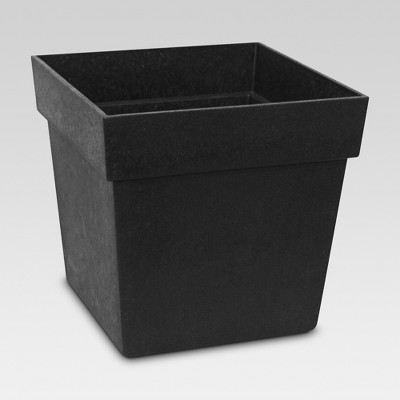 8  Recycled Planter Square Black - Smith & Hawken™