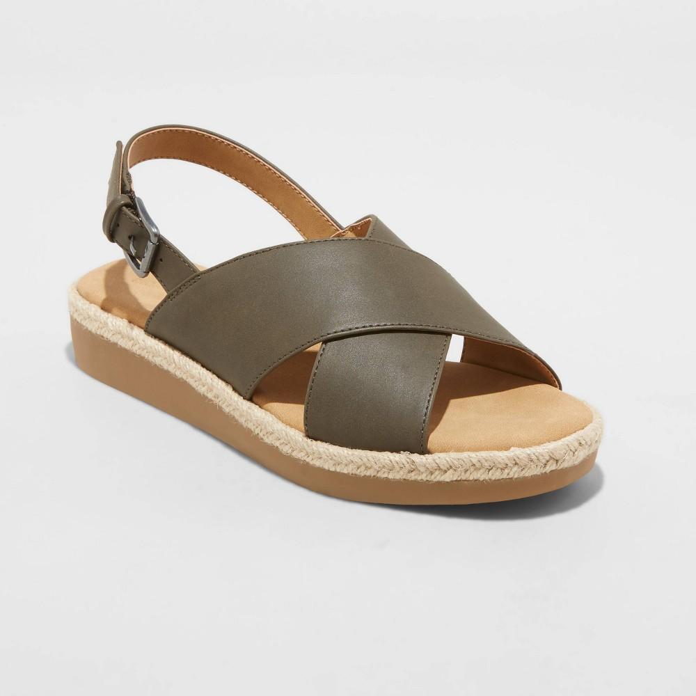 Women 39 S Frances Sporty Platform Sandals Universal Thread 8482 Green 7