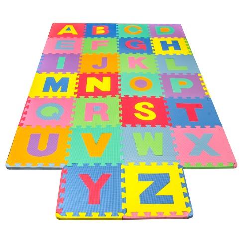 Matney Foam Floor Alphabet Puzzle Mat For Kids Target
