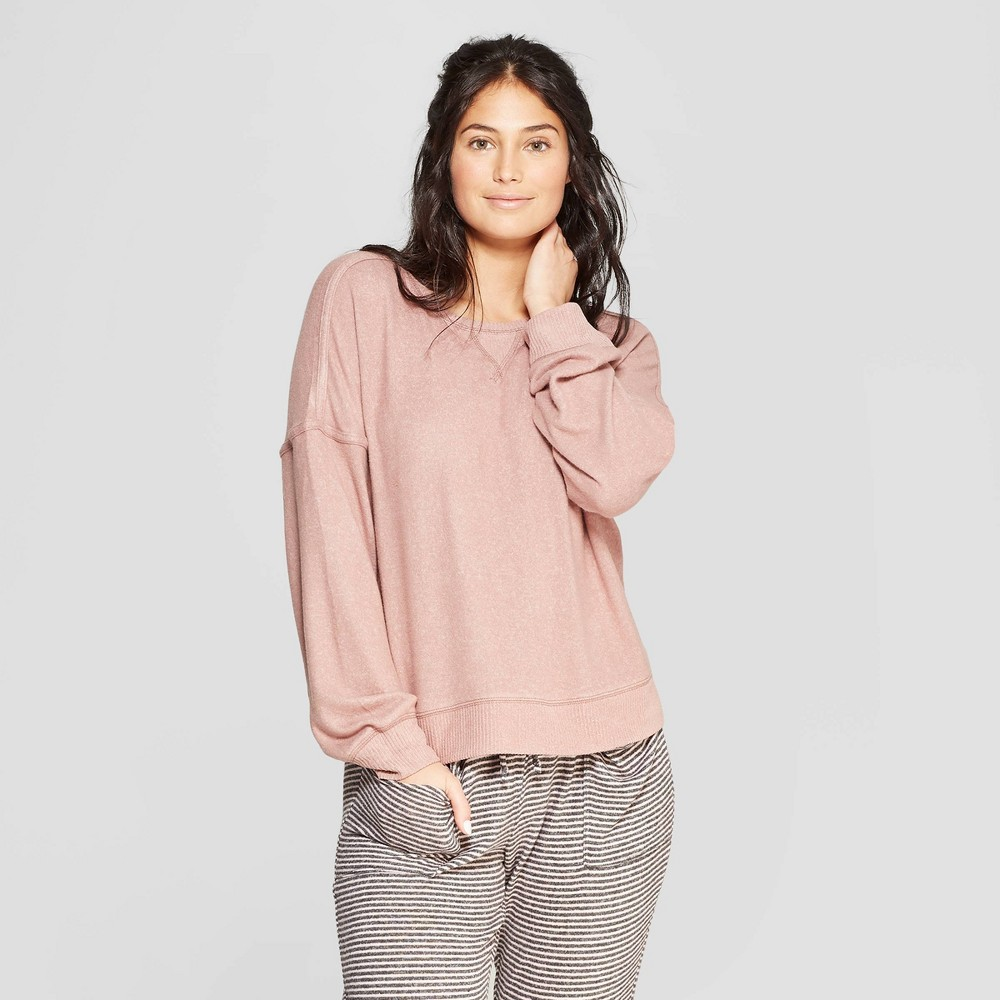Women's Perfectly Cozy Lounge Sweatshirt - Stars Above Mauve (Pink) Xxl