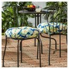 "Set of Two 18"" Marlow Floral Outdoor Bistro Chair Cushions - Kensington Garden - image 2 of 4"