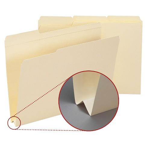 smead heavyweight file folders 1 3 tab 1 1 2 inch expansion