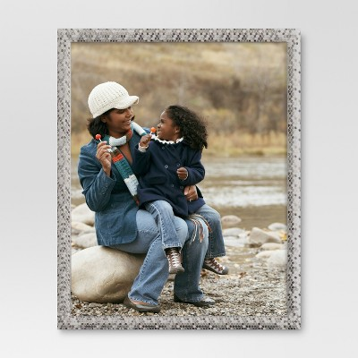 "8"" x 10"" Textured Nickel Frame - Threshold™"
