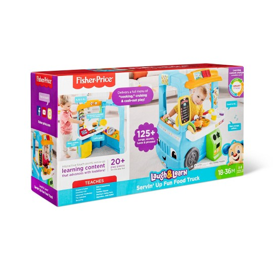 FisherPrice Laugh and Learn Servin Up Fun Food Truck Interactive Christmas Gift