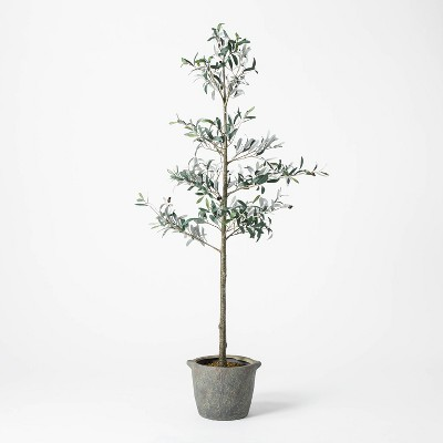 "75"" Artificial Sparse Olive Tree in Pot - Threshold™ designed with Studio McGee"