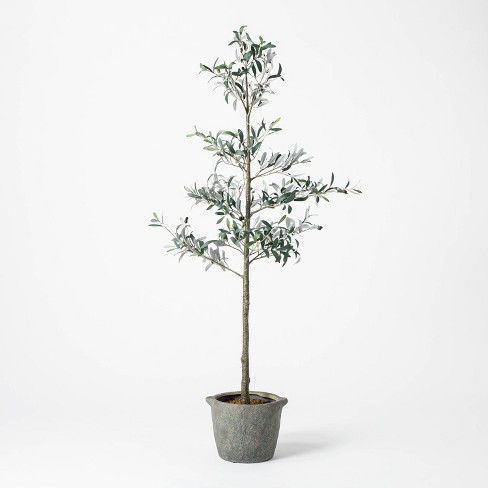 """75"""" Artificial Sparse Olive Tree in Pot - Threshold™ designed with Studio McGee - image 1 of 4"""