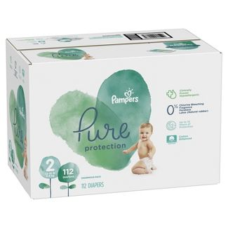 Pampers Pure Protection Disposable Diapers Enormous Pack - Size 2 (112ct)