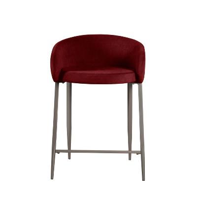 Cromwell Metal Velvet Counter Height Barstool - Hillsdale Furniture