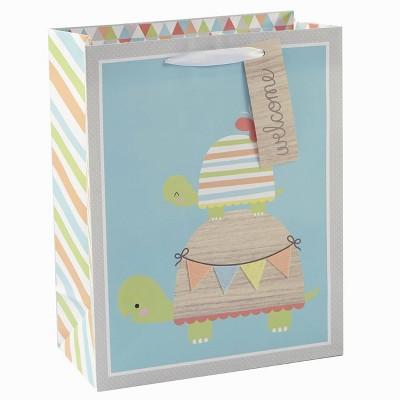 Medium Turtles with Felt Banner Baby Shower Gift Bag - Spritz™