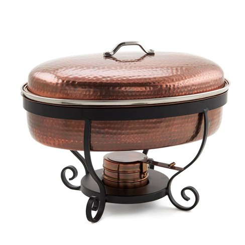 Old Dutch 6qt Stainless Steel Hammered Antique Chafing Dish Copper - image 1 of 3