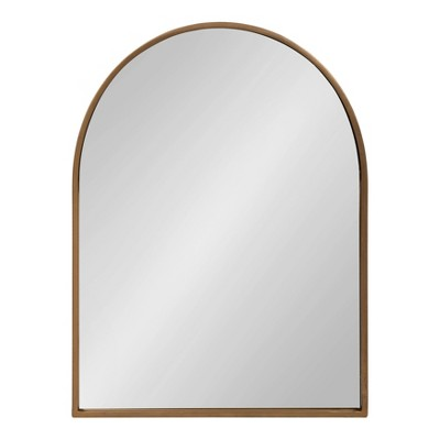"24"" x 32"" Valenti Framed Arch Mirror Gold - Kate and Laurel"