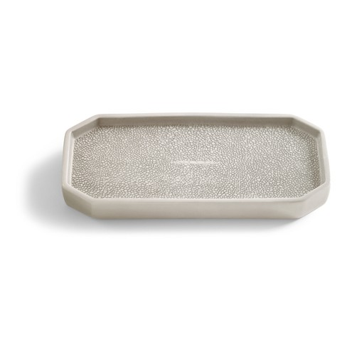 Shagreen Bathroom Coordinate Solid Porcelain Tray Gray - Kassatex® - image 1 of 1