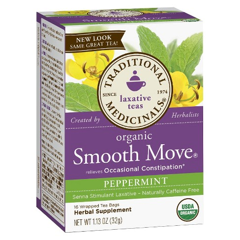Traditional Medicinals Smooth Move Peppermint Tea Bags - 16ct - image 1 of 1