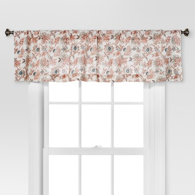 "15""x54"" Floral Window Valance White/Beige - Threshold™"