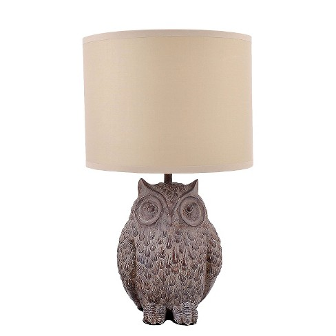 Resin Owl Lamp with Shade - image 1 of 3