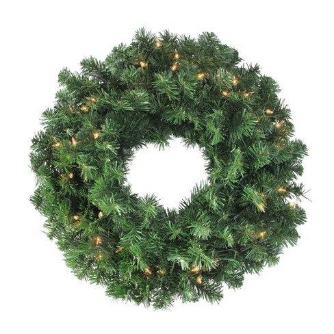 "Northlight 24"" Mixed Canyon Pine Artificial Christmas Wreath - Clear Lights - image 1 of 3"