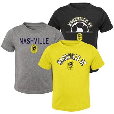 MLS Nashville SC Toddler Short Sleeve 3pk T-Shirt